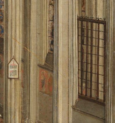 Annonciation Prado detail travee invisible