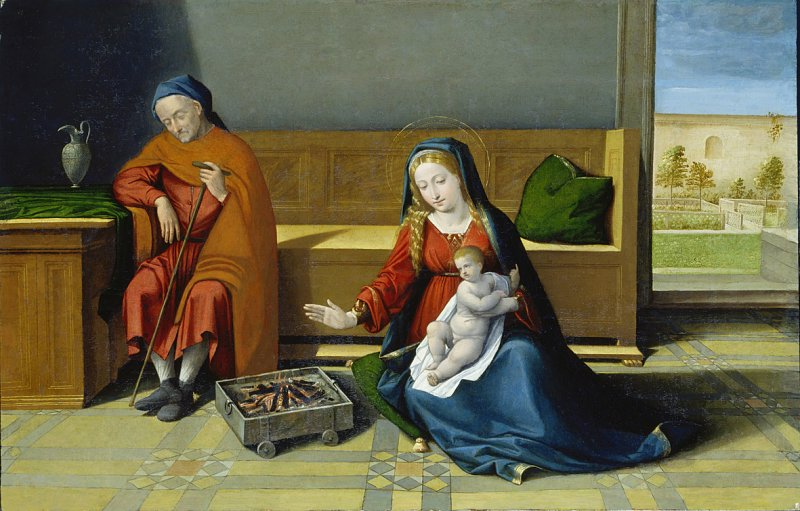Benvenuto Tisi detto il Garofalo - Sacra Famiglia, 1522-1524 Stadel Francfort
