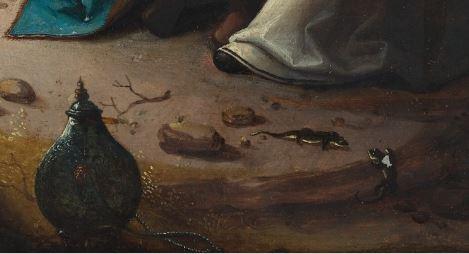 Loth and his daughters, Anonymous, 1515-1525 Museum Boijmans Van Beuningen detail salamandre