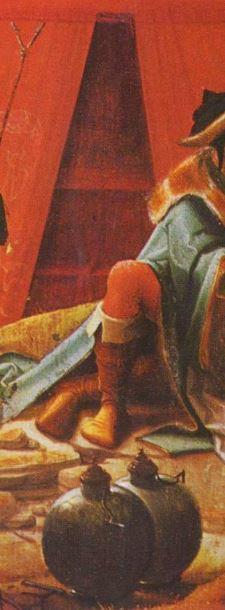Loth et ses filles, Anonyme anversois, vers 1520, Louvre detail gourdes