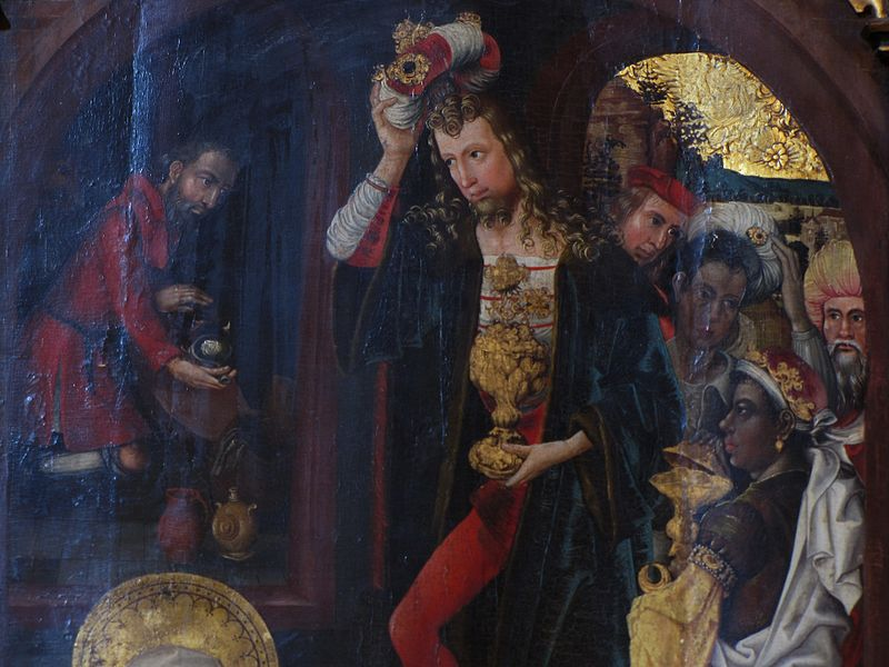 Martin DIEBOLD Retable Jugement Dernier Haguenau 1496-1497 Adoration rois mages detail