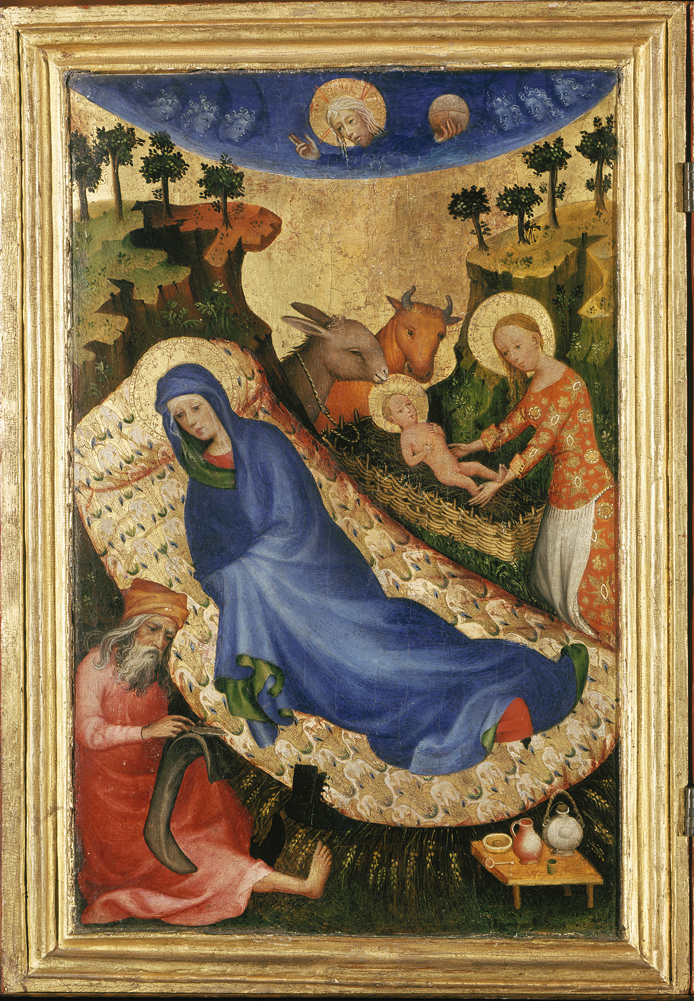 Mosan-Netherlandish-artist-Nativity-panel-of-the-Antwerp-Baltimore-Polyptych-of-Philip-the-Bold-ca.-1400-Antwerp-Mayer-van-den-Bergh-Museum