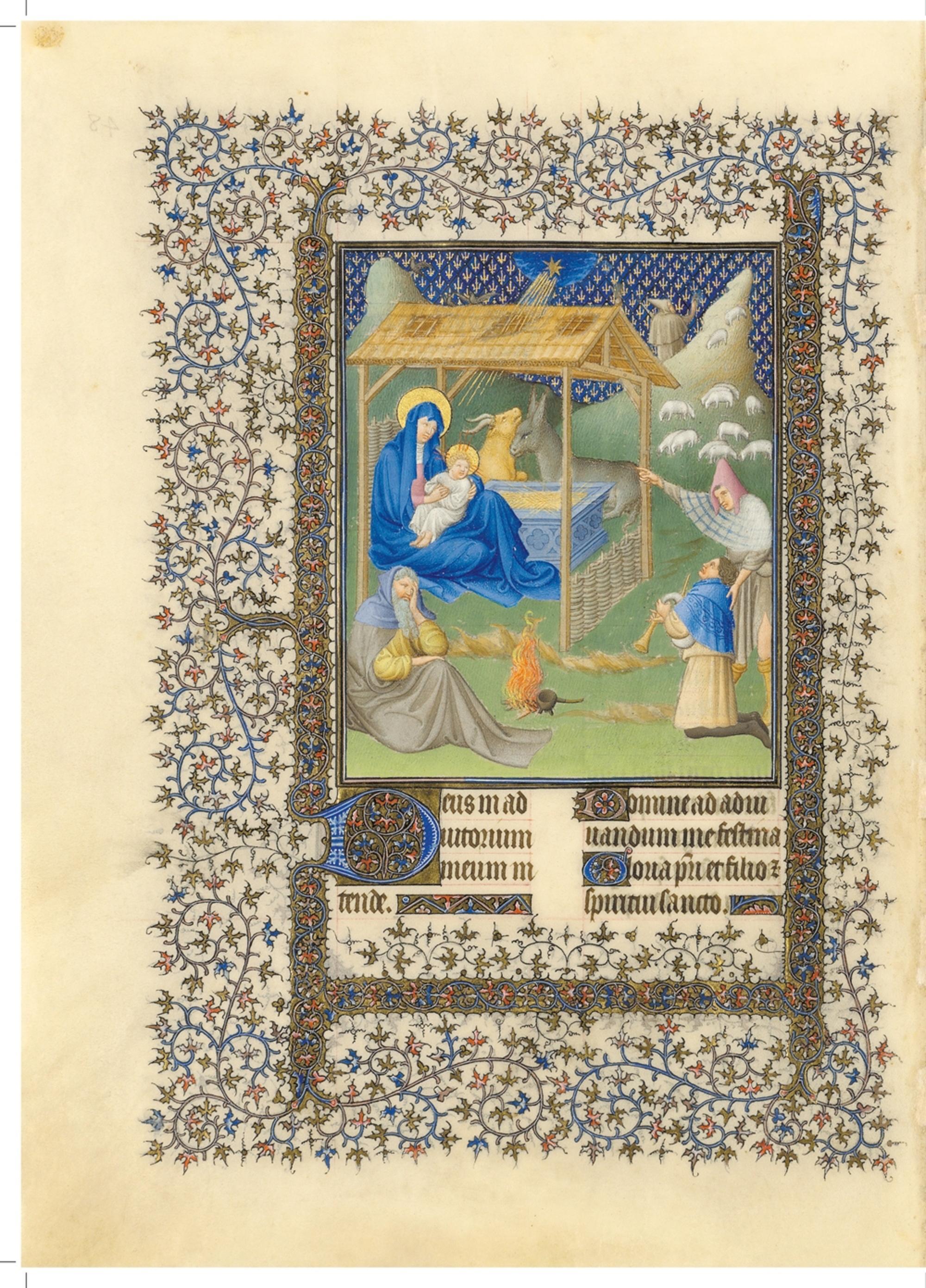 Nativite Belles heures de jean du berry folio 48v MET