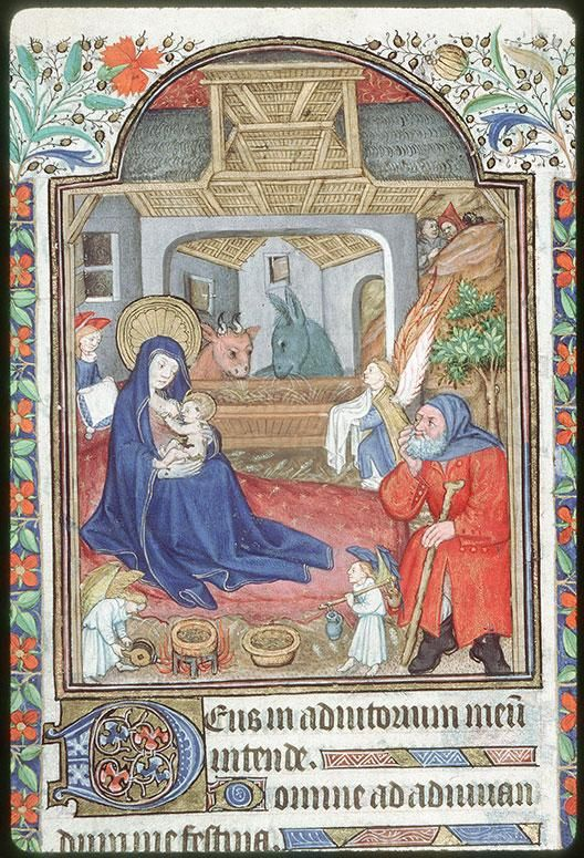 Nativite Heures à l'usage de Rome 1450 Tours BM ms 0217
