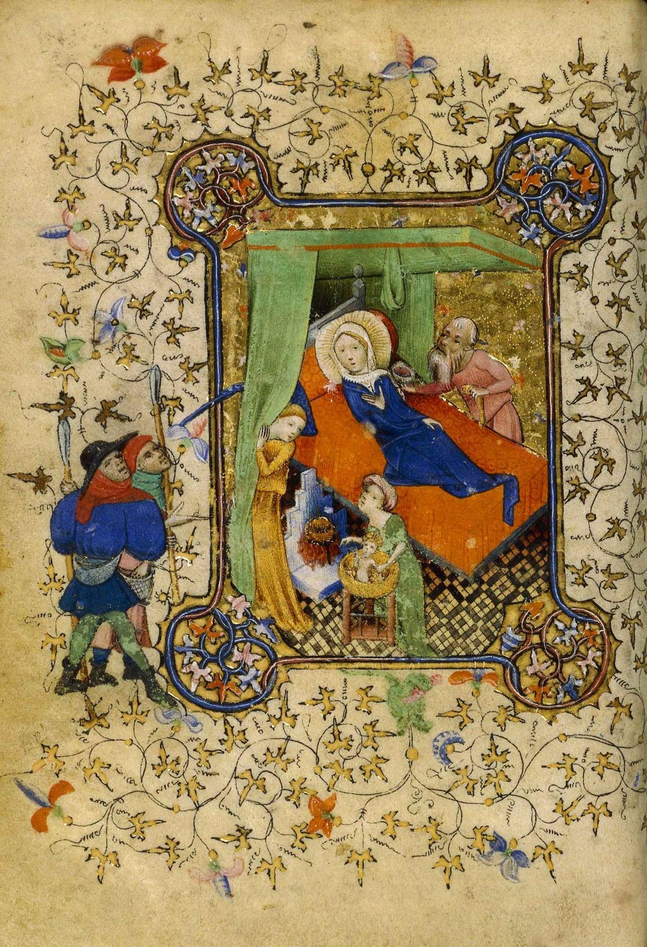 Nativite, Livre d heures a l usage de Rome, entre 1409 et 1419,Paris, BNF, Mss, NAL 3055, f. 89v