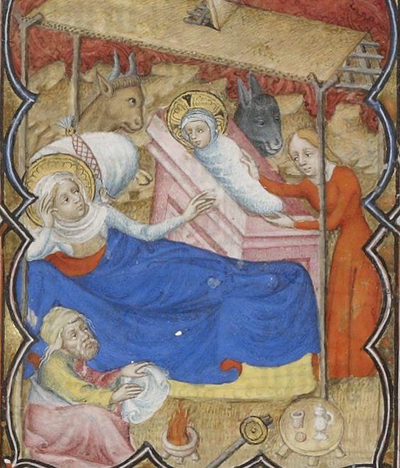 Nativite Petites heures de Jean de Berry 1375-90 f143r gallica