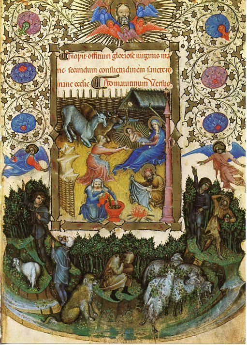 Nativite, Visconti Book of Hours, Milan, fin 14eme