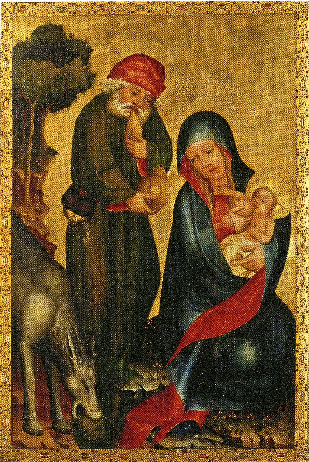 Rest on the Flight into Egypt:  detail of the Petri-Altar (Grab