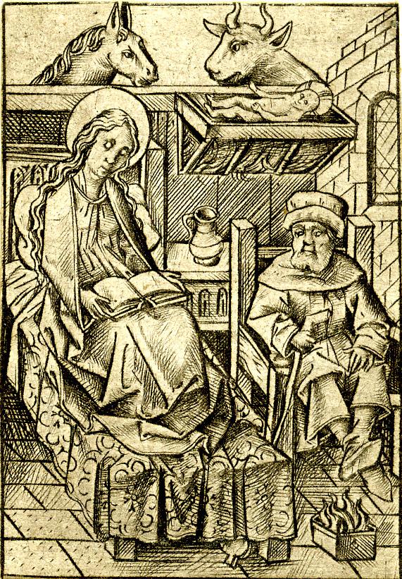 The Nativity from Israhel van Meckenem