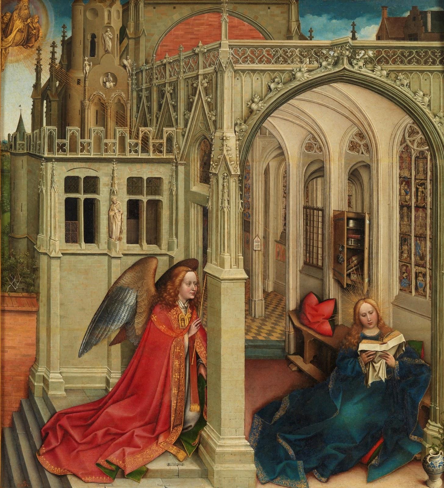 campin Annonciation Prado 1420 - 1425