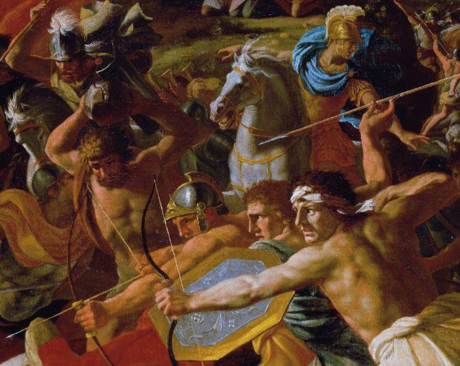 Poussin 1624-25 Victory of Joshua over the Amalekites Ermitage detail