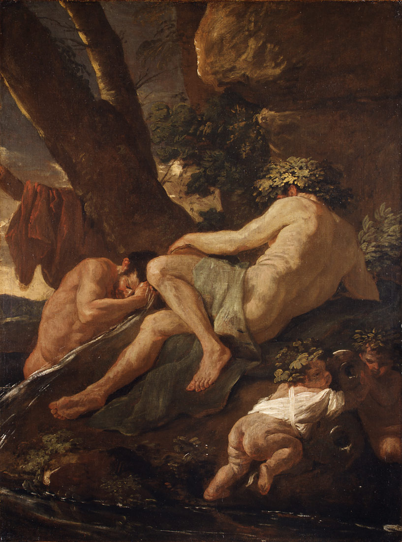 Poussin 1627 midas_washing_at_the_source_of_the_pactolus MET