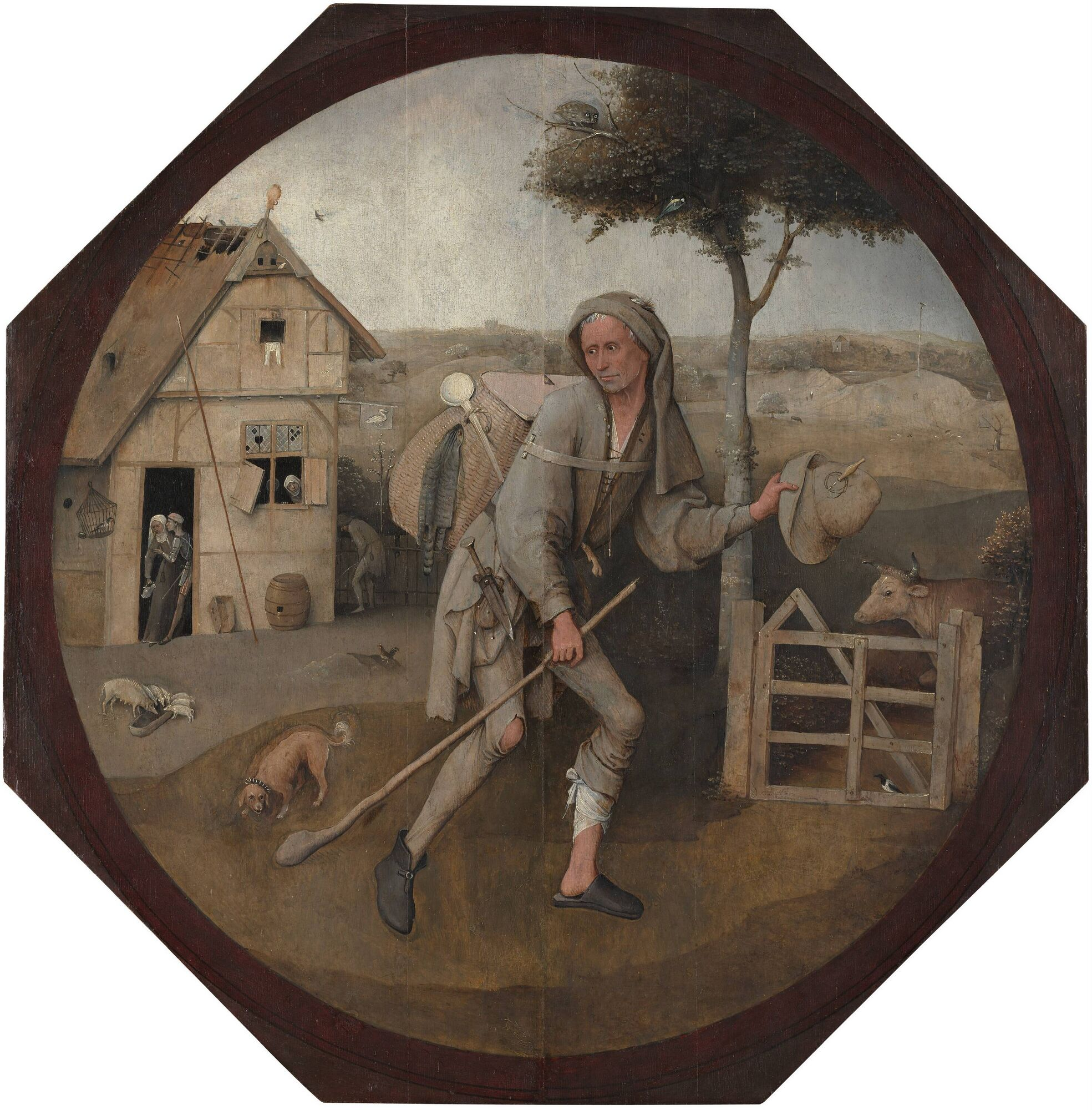 Bosch Le colporteur 1490-1510 Museum Boijmans Van Beuningen Rotterdam
