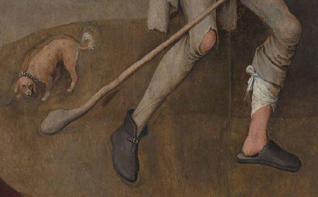 Bosch Le colporteur 1490-1510 Museum Boijmans Van Beuningen Rotterdam detail chien