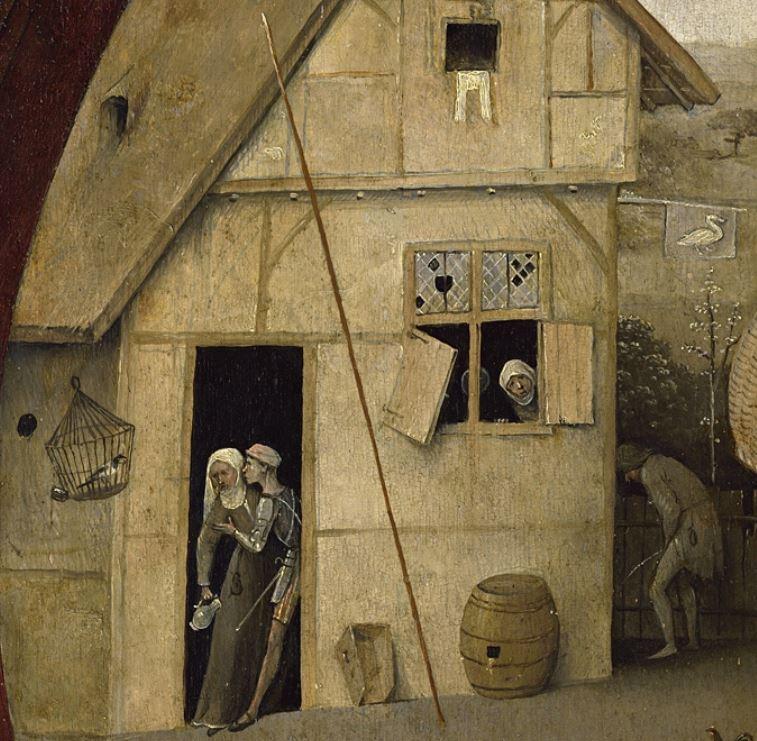 Bosch Le colporteur 1490-1510 Museum Boijmans Van Beuningen Rotterdam detail