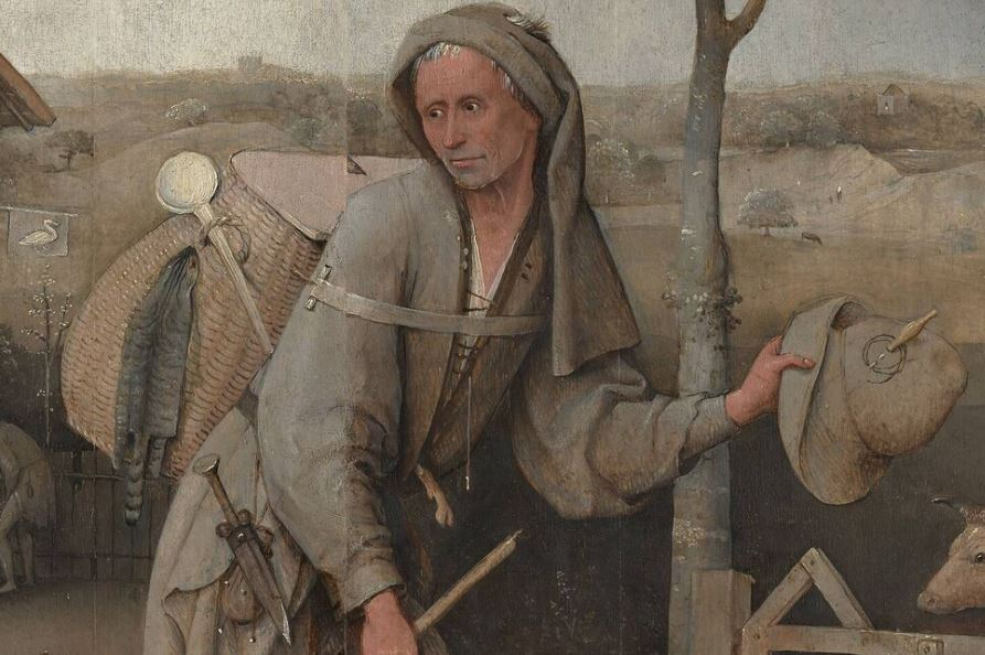 Bosch Le colporteur 1490-1510 Museum Boijmans Van Beuningen Rotterdam haut