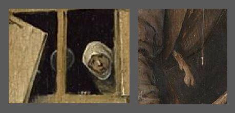 Bosch Le colporteur 1490-1510 Museum Boijmans Van Beuningen Rotterdam miroir patte
