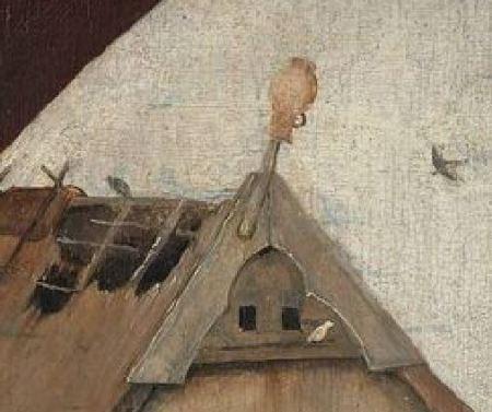 Bosch Le colporteur 1490-1510 Museum Boijmans Van Beuningen Rotterdam pot sur toit