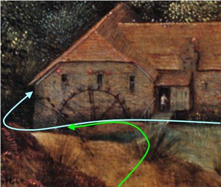 Brueghel 1568 Die_Elster_auf_dem_Galgen Musee regional de la Hesse, Darmstadt bifurcation