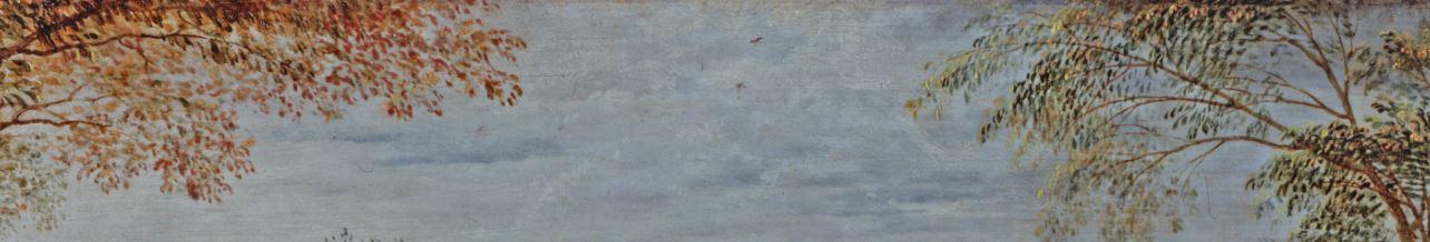 Brueghel 1568 Die_Elster_auf_dem_Galgen Musee regional de la Hesse, Darmstadt detail deux arbres