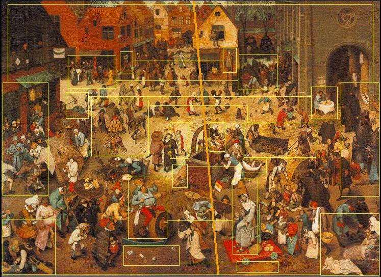 Combat de Carnaval et de careme Brueghel schema