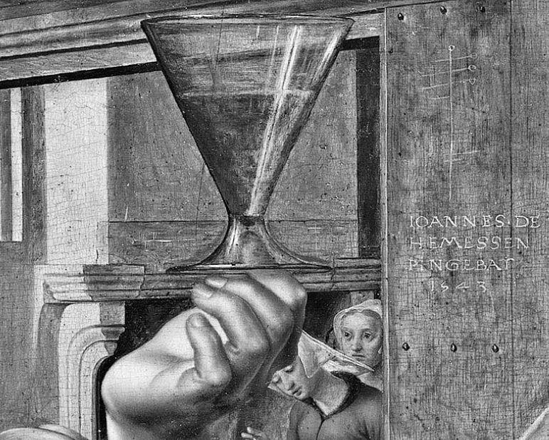 Jan_Sanders_van_Hemessen 1543 Wadsworth Atheneum Museum of Art detail verre