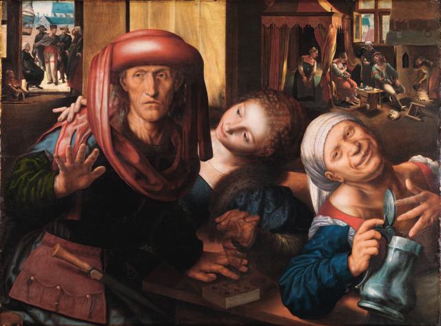 Jan_Sanders_van_Hemessen Joyeuse compagnie Staatliche Kunsthalle Karlsruhe 1545-1550