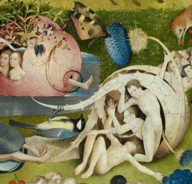Jardin des delices panneau central detail mesange