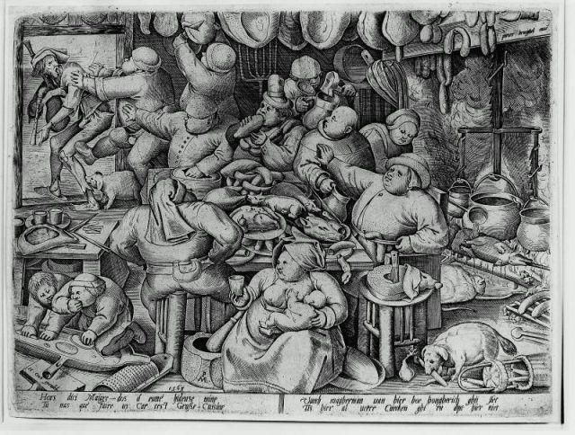 La Cuisine grasse,1563 Pieter Bruegel
