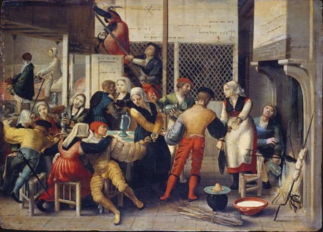 Monogrammiste de Brunswick Brothel Scene 1540 – 1550 Stadel Museum Francfort
