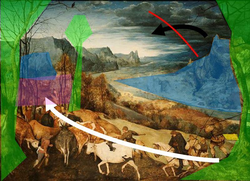 Pieter_Bruegel_(I)_-_The_Return_of_the_Herd_(1565) composition