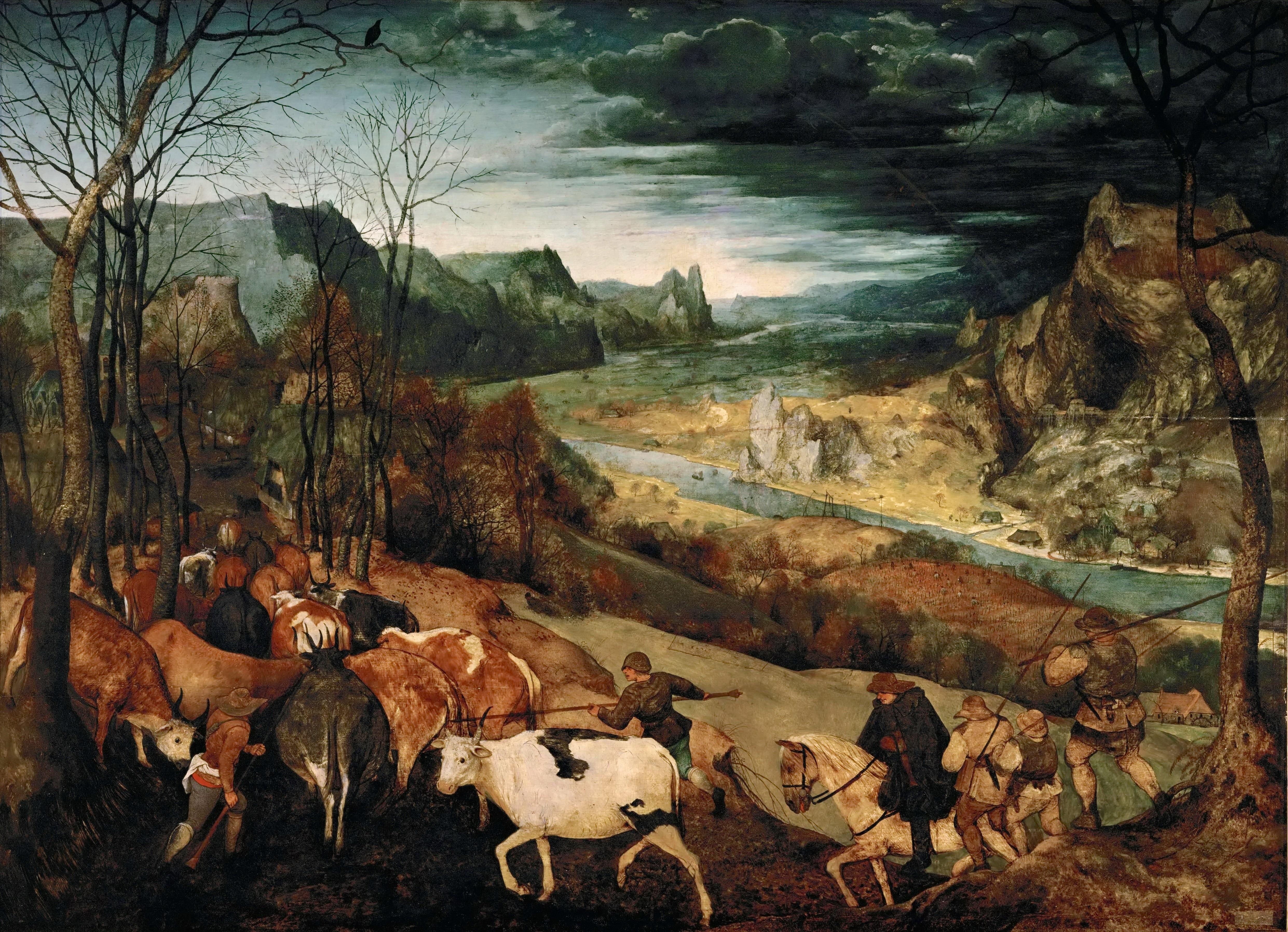 Pieter_Bruegel_(I)_-_The_Return_of_the_Herd_(1565)