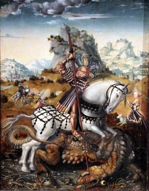 1512_Meister_des_Dobelner_Hochaltars_Hl._Georg_zu_Pferde_anagoria Kunsthalle Hamburg