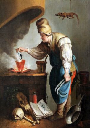18TH CENTURY FLEMISH SCHOOL THE ALCHEMIST