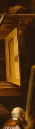 Adriaen van Gaesbeeck - An Artist in His Studio. ca. 1645 Milwaukee Art Museum detail