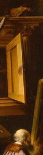 Adriaen van Gaesbeeck - An Artist in His Studio. ca. 1645 Milwaukee Art Museum detail