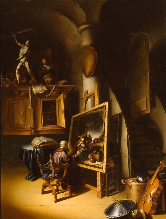 Adriaen van Gaesbeeck - An Artist in His Studio. ca. 1645 Milwaukee Art Museum