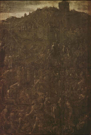 Albrecht Durer, Calvary 1505. Drawing,Florence, Galleria degli Uffizi