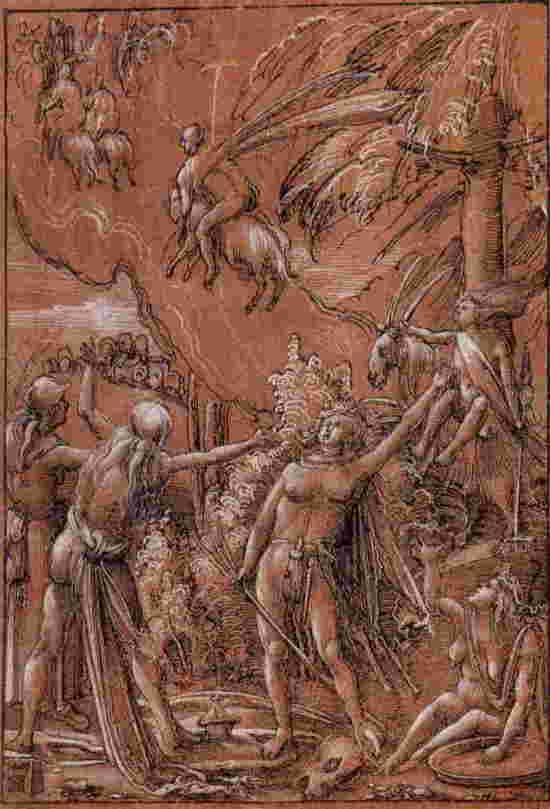 Altdorfer 1506 Departpour le sabbat dessin Louvre