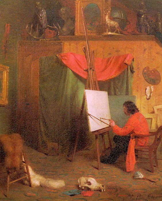 Beard,_William_Holbrook___Self_Portrait_in_the_Studio,_1860 ca New_York_Historical_Society
