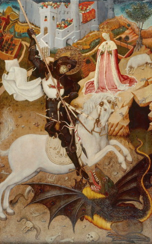 Bernat_Martorell_-_Saint_George_Killing_the_Dragon_1434-35 Art Institute of Chicago