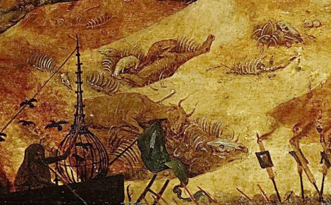 Brueghel Le Triomphe de la Mort 1562 Prado Madrid detail
