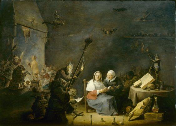 David Teniers II, Inwijding van de heksen, ca. 1650, Akademie der bildenden Kunste, Wenen