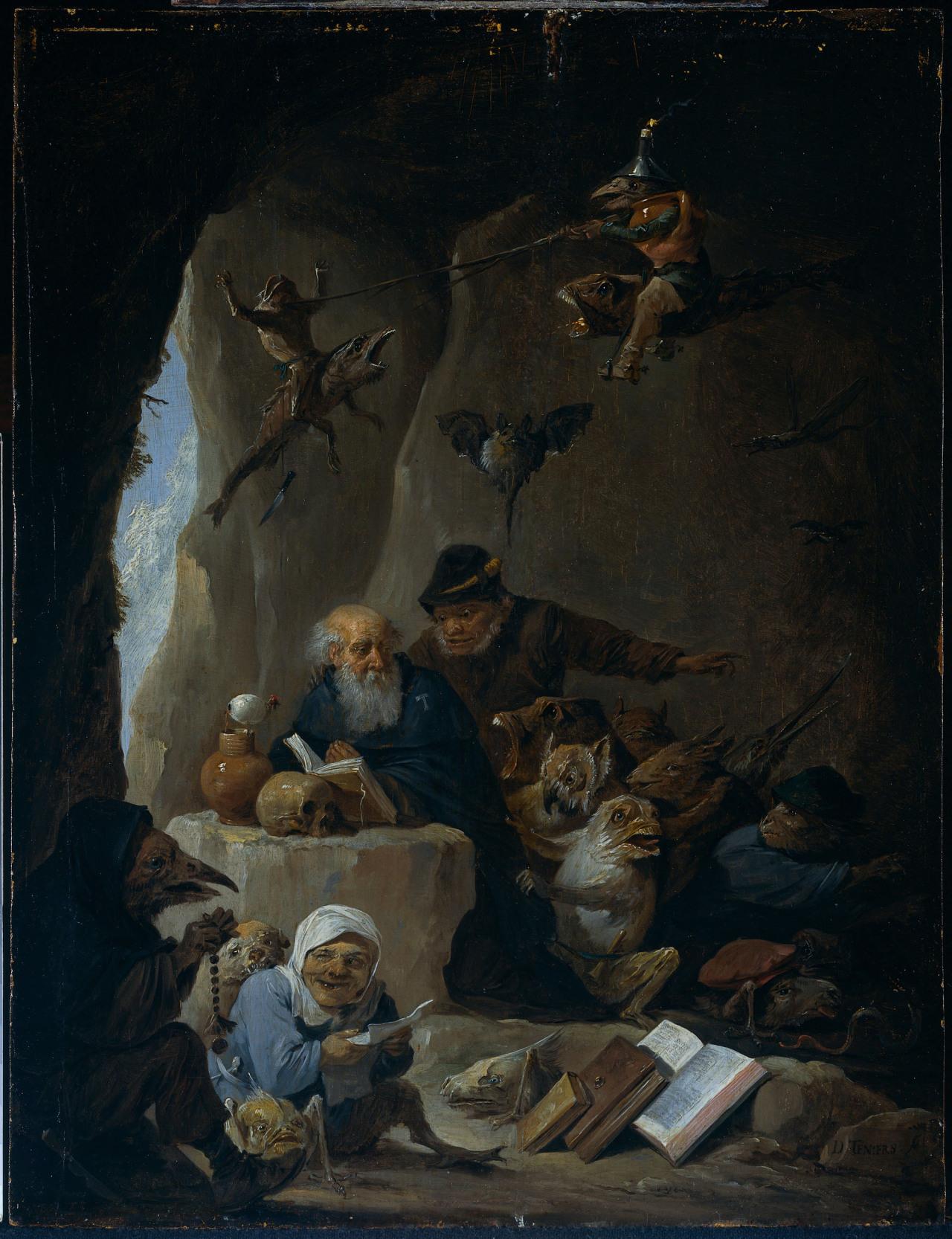 David Teniers II - The Temptation of St. Anthony. 1660 rijksmuseum