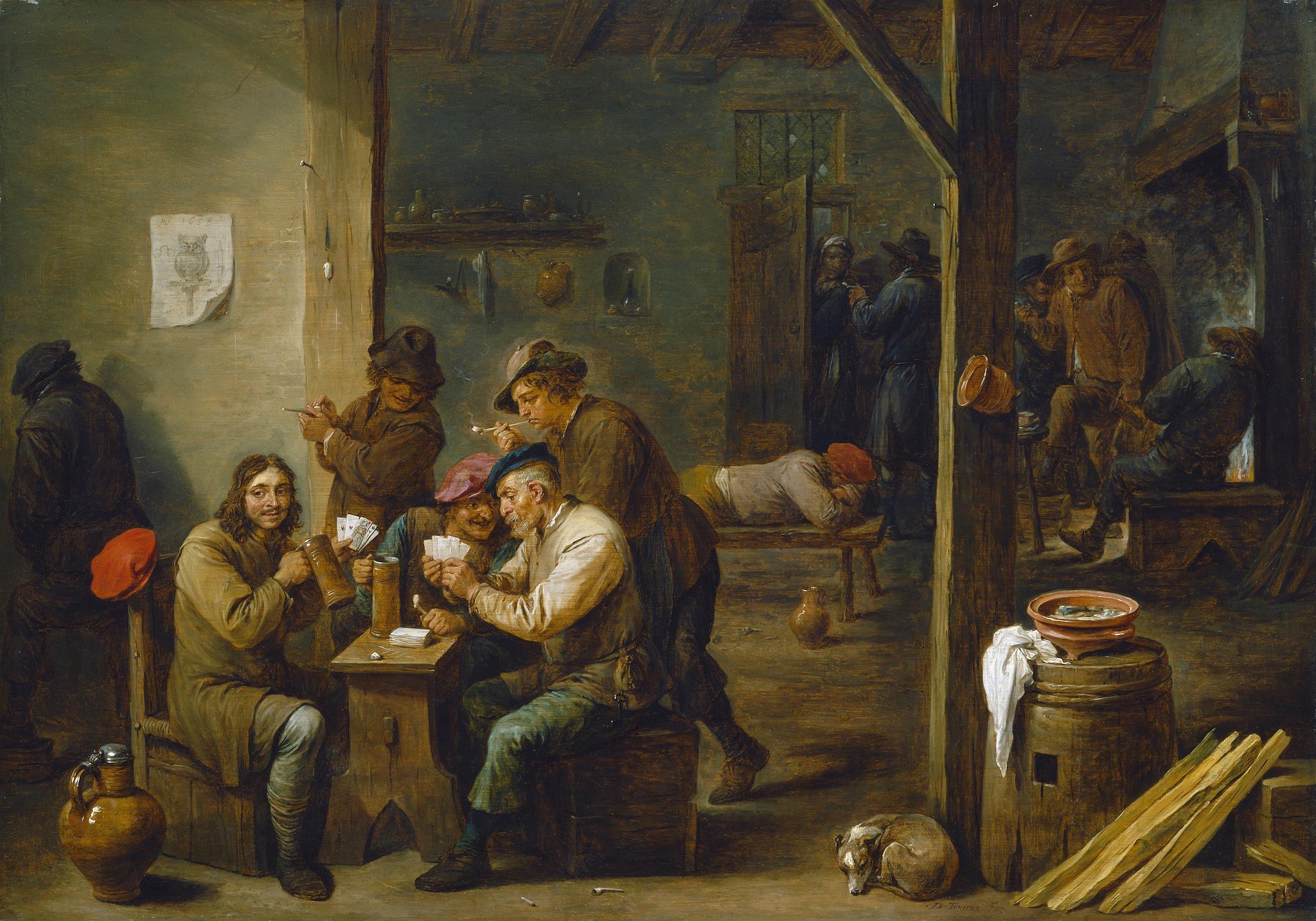David Teniers II scene de taverne 1658 National Gallery of Arts Washington