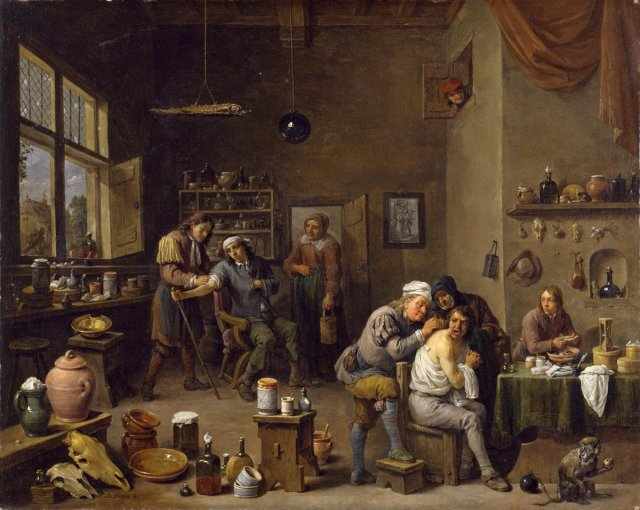 David teniers II The surgeon 1670 Chrysler museum Norfolk Virginia