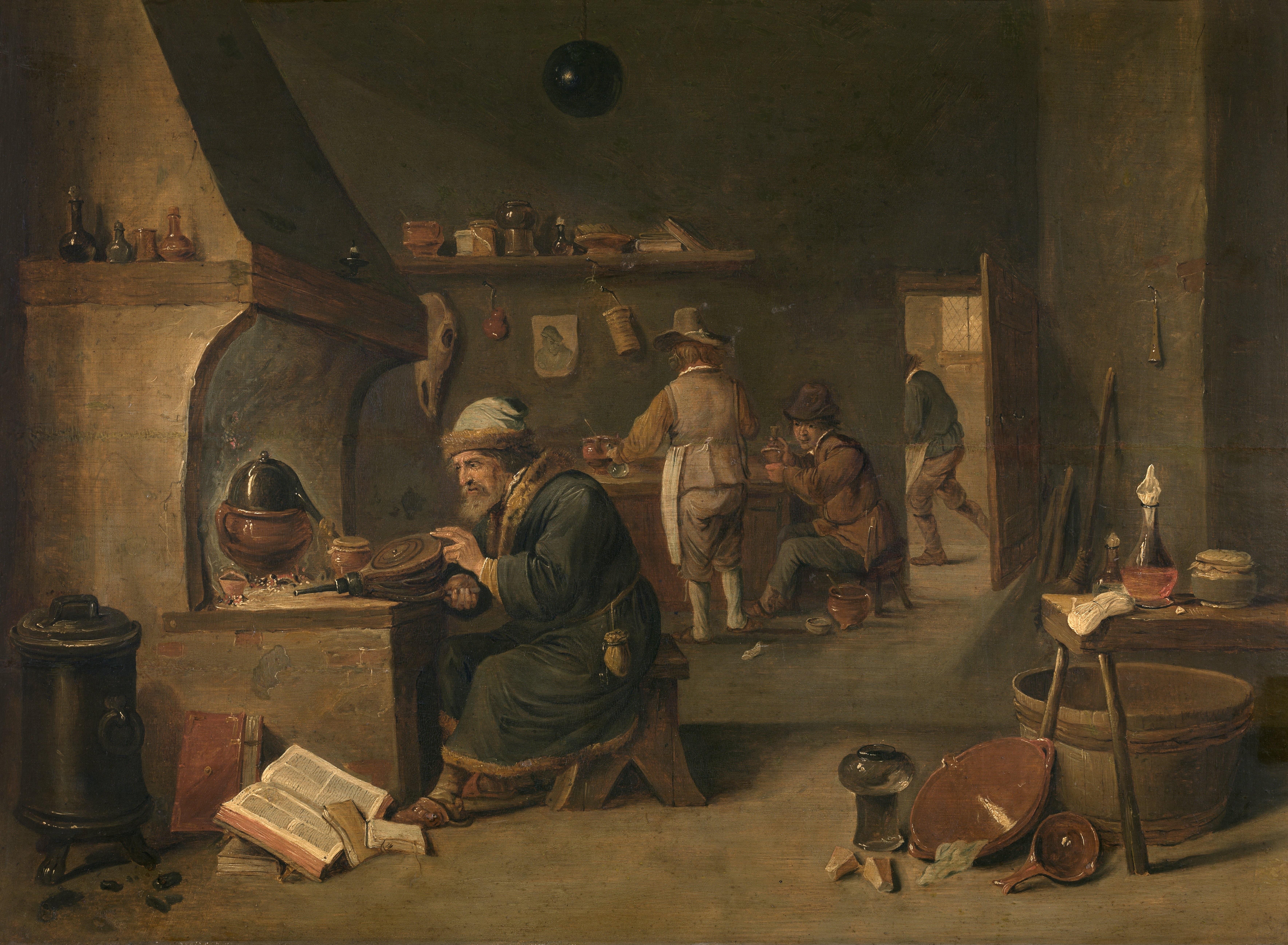 David_Teniers_de_Jonge_-_Alchimist_Royal Museum of Fine Arts Antwerp