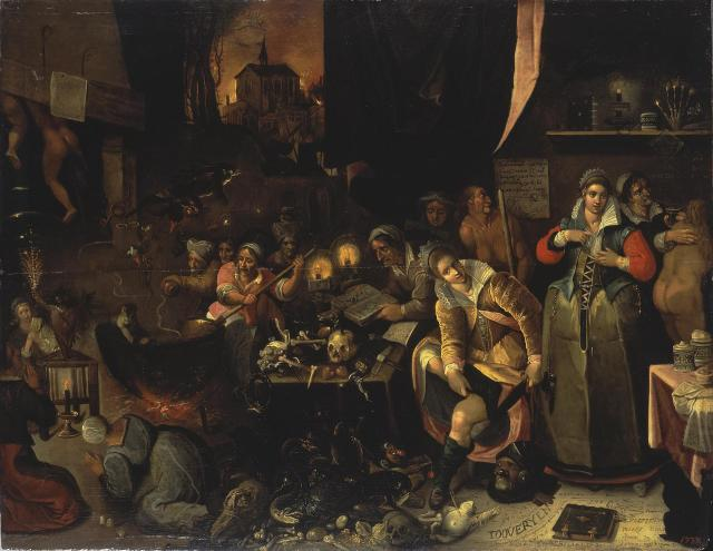 Frans_Francken_(II)_-_The_Witches'_Kitchen1606 Ermitage Saint Petersbourg