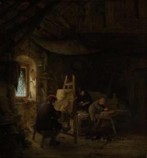 Gabriel van Ostade 1670-75 Le peintre dans son atelier Rijkmuseum Amsterdam