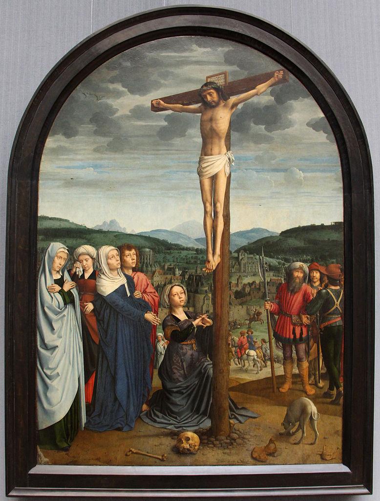 Gerard David 1515 Crucifixion Gemaldegalerie Berlin ensemble